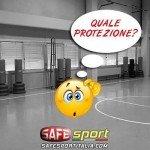 Palestra senza rivestimenti di protezione di sicurezza sportiva