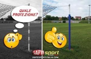 Protezione paletti per porta da calcio
