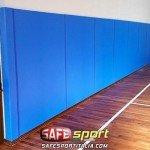 Protezioni gomma murali campo da basket e volley