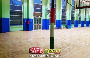 Protezione sportiva in gomma per pilastri a 3 lati e incassati a muro