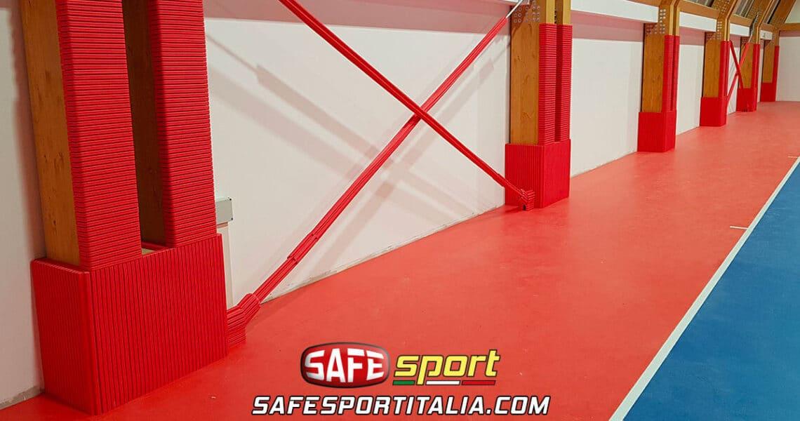 Protezioni antitrauma sportive per tensostrutture