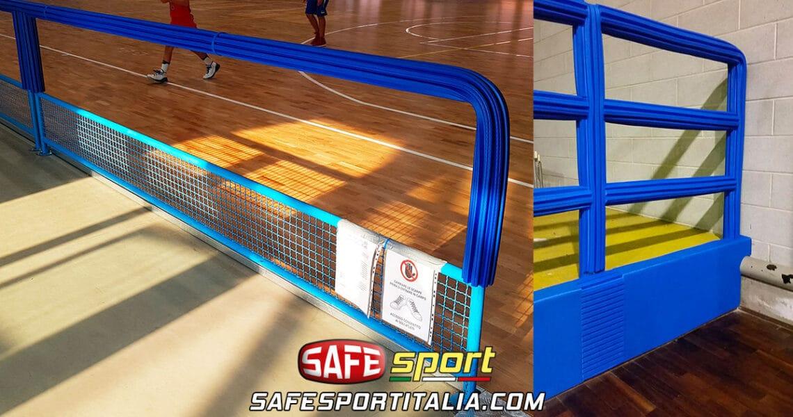 Protezioni antitrauma per balaustre impianti sportivi